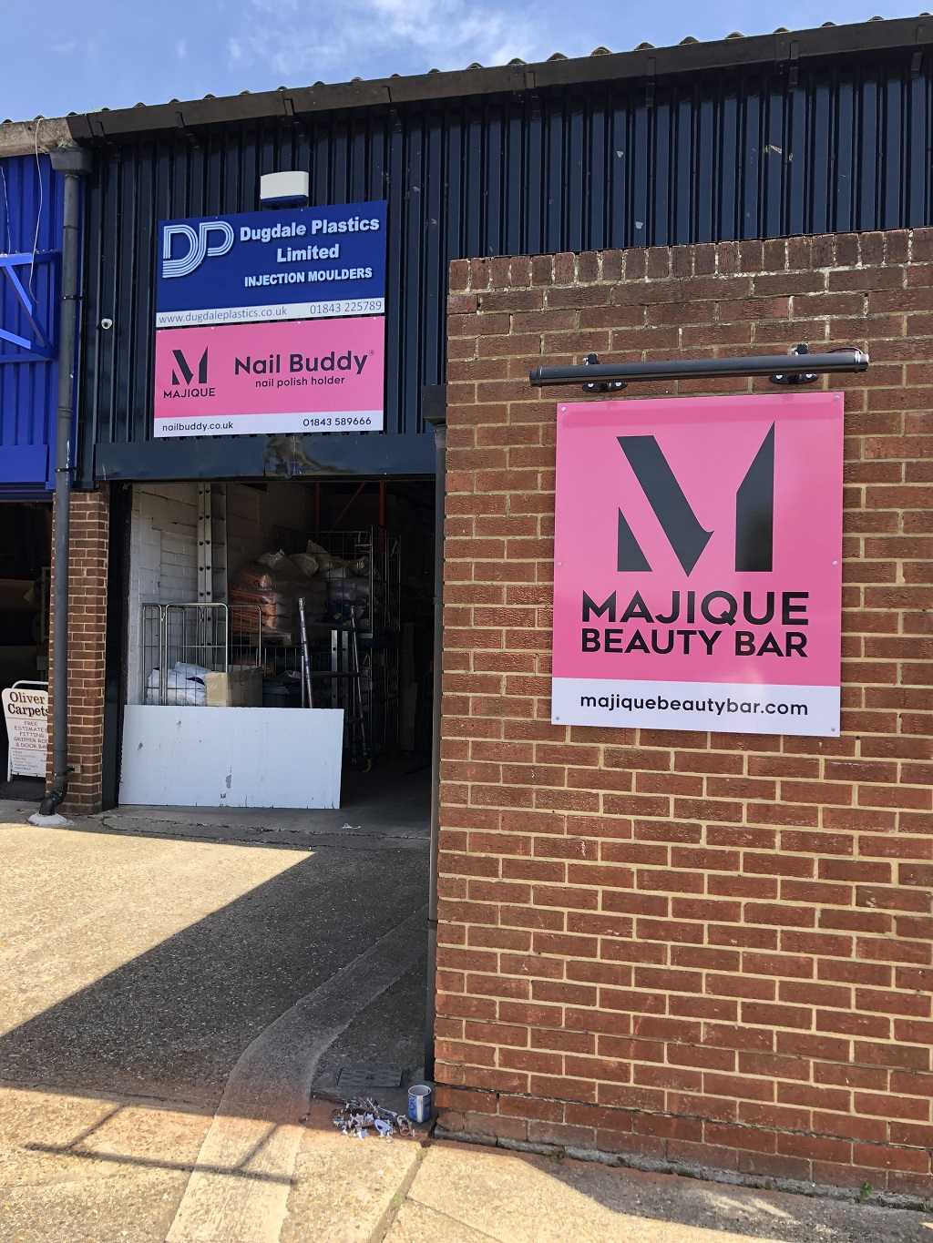 New Office Signage For Majique Beauty Bar