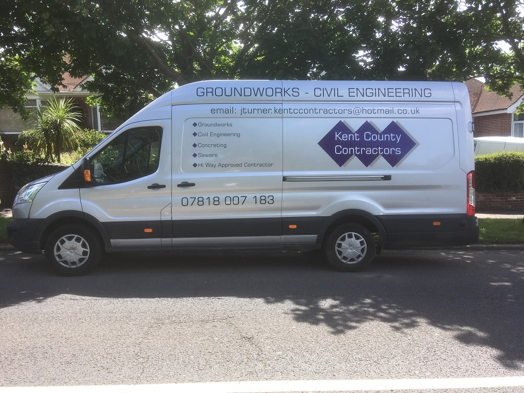 Projects Signs - Kent County Contractors Van 3