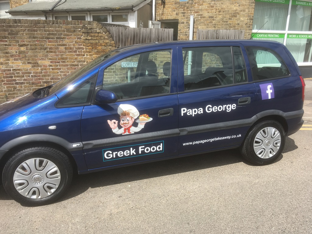 Project Signs - Papa George Car 1