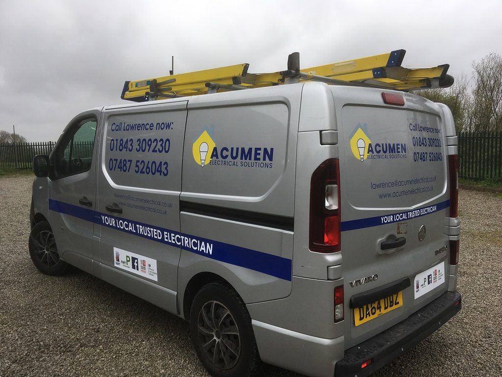 Project Signs - Acumen Electrical Solutions Van Side