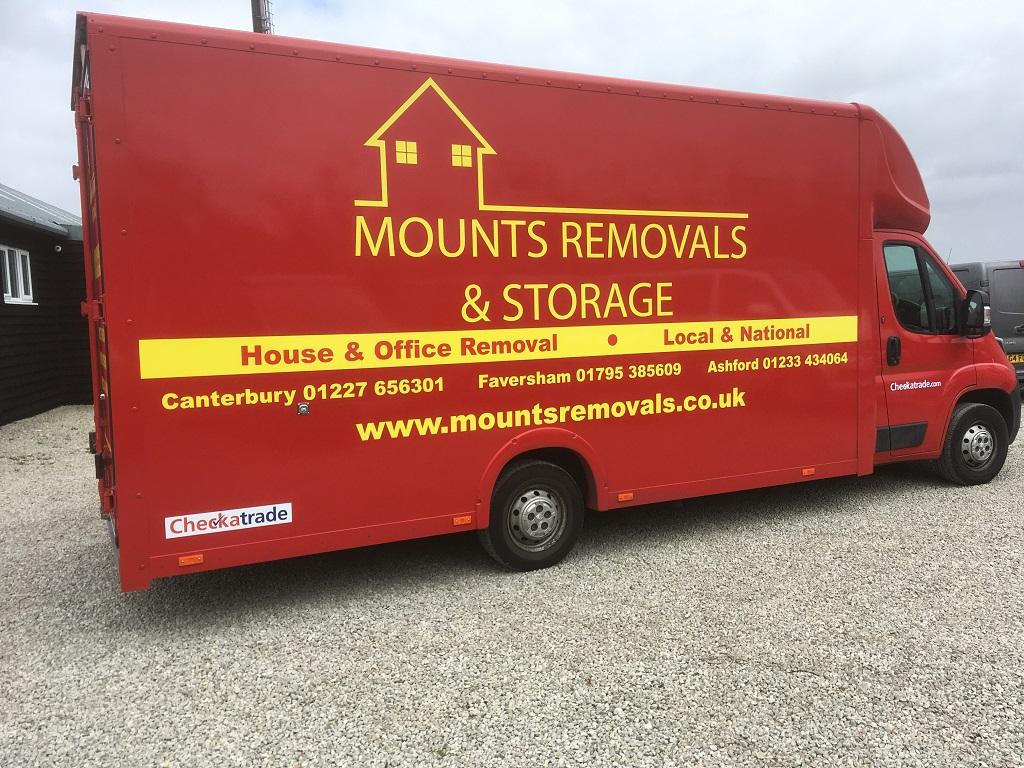 Project Signs - Mounts Removals & Stroage Luton Van 1