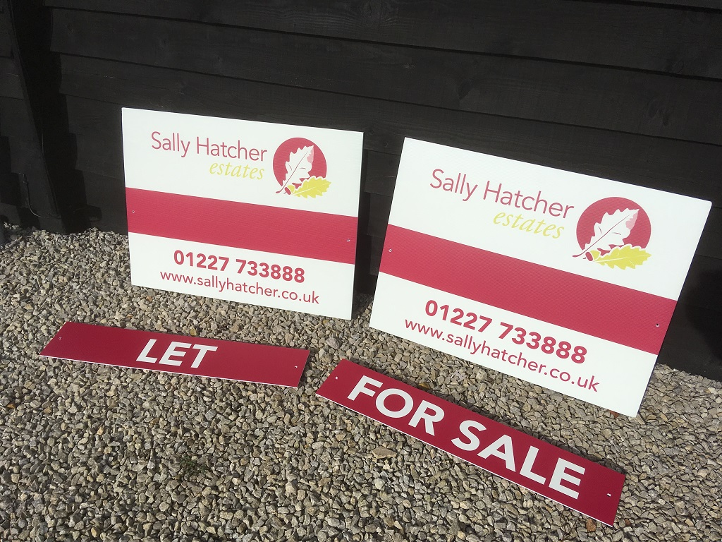Project Signs - Sally Hatcher Estates For Sale Sign